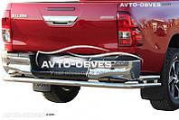 Защита задняя Toyota Hilux 2015-... , труба с дополнительными углами