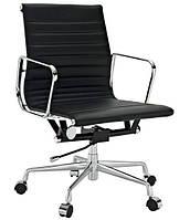Кресло офисное Алабама М New черный точная копия дизайнерского кресла Ribbed EA 117 от Charles and Ray Eames, фото 1