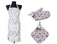 Набор для кухни: фартук, рукавица и прихватка Lilac rose ТМ Прованс