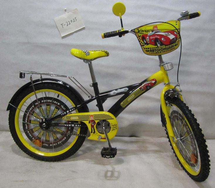 Велосипед двухколёсный Автогонщик 20 T-22025 black + yellow