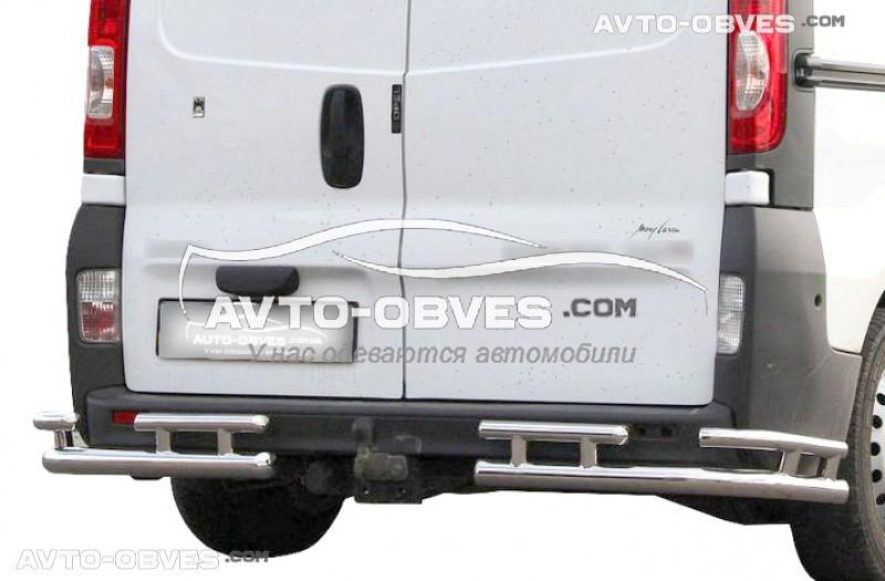 Захист задній Renault Trafic, кути подвійні, кор (L1) / довга (L2) бази