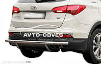 Защита заднего бампера для Hyundai Santa Fe 2013-2016 (п.к. AK)