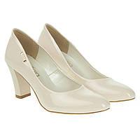 Туфли женские ZanZara (молочного оттенка, на устойчивом каблуке, удобные, практичные)