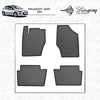 Коврики резиновые в салон Peugeot 308 c 2008 (4шт) Stingray