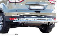 Защита заднего бампера для Ford Kuga 2013-2016 двойной ус от ИМ Автообвес