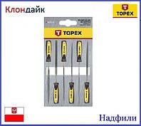 Надфили 6 шт TOPEX 06A010