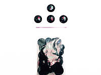 Камни пришивные черн.50шт в упак.(диаметр 2см)