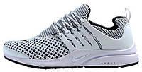 Мужские кроссовки Nike Air Presto Flyknit White (Найк Аир Престо) белые