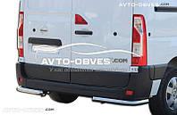 Защита задняя Opel Movano, углы одинарные
