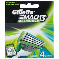 Gillette Mach3 Sensitive лезвия для бритья 4 шт