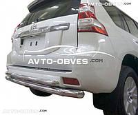 Защита заднего бампера Toyota Prado 150 2009-2013- по сегодня, труба двойная