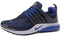 Мужские кроссовки Nike Air Presto Flyknit (Найк Аир Престо) синие/черные