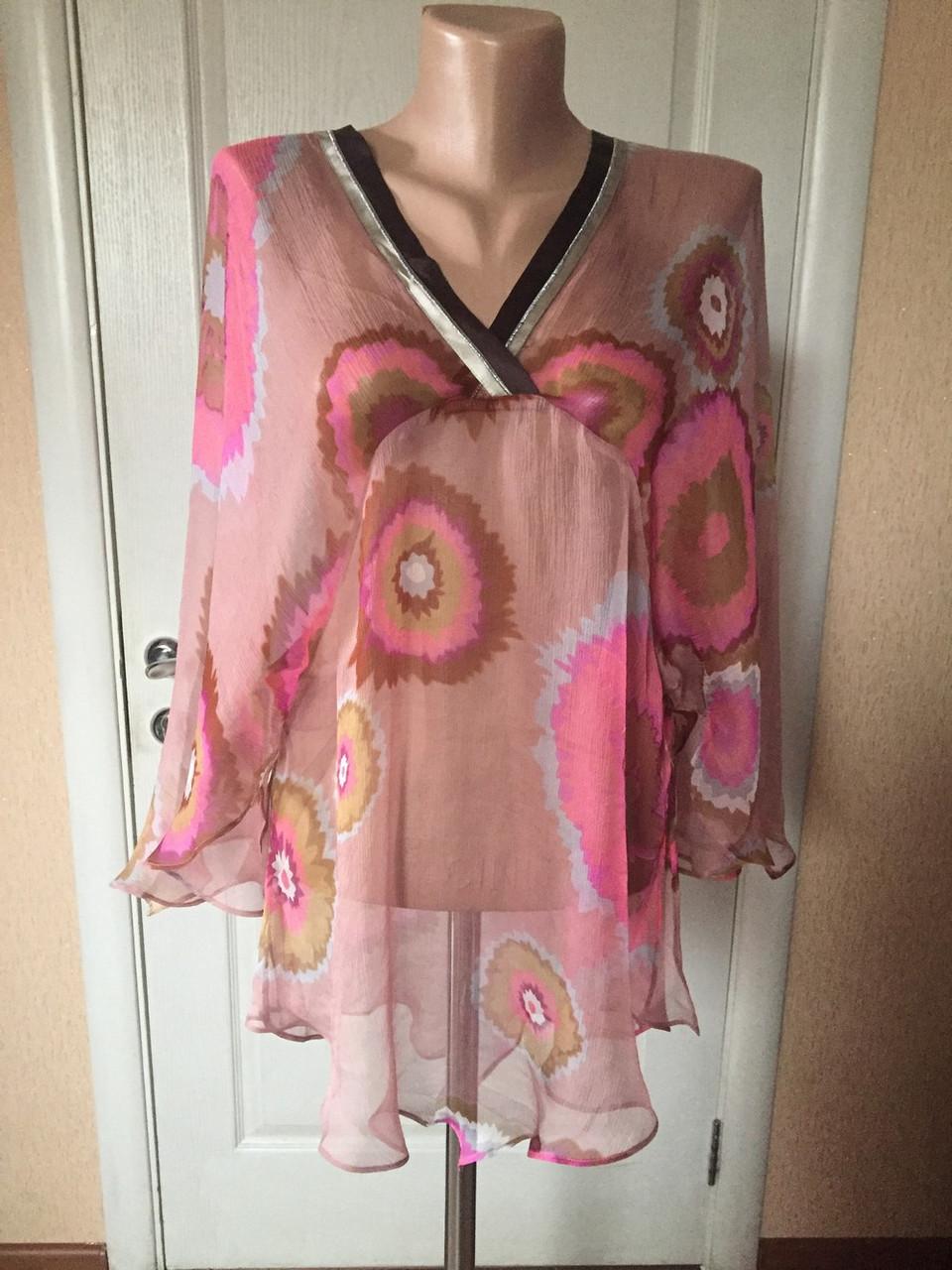 bcc68576544 Блуза - туника женская легкая летняя длинный рукав Snake Milano - Интернет  -магазин женской и