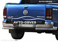 Защита заднего бампера VolksWagen Amarok, углы двойные (п.к. АК3)