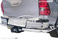 Защита заднего бампера Toyota Hilux 2015-… углы двойные от ИМ Автообвес