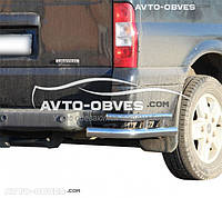 Защита заднего бампера Ford Transit, углы двойные
