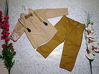 Костюм   для мальчика с рубашкой, брюками и бабочкой на 5-8 лет