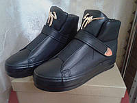 Демисезонные женские  ботинки  на танкетке Prima D A W-02