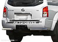 Защита задняя Nissan Pathfinder 2010-2014, углы одинарные