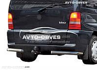 Защита заднего бампера Mercedes Vito 638, углы одинарные, нержавейка