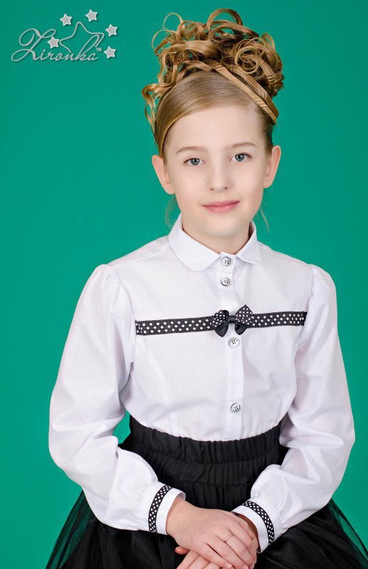 cbdbd1dc674 Блузка школьная для девочки