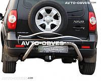 Защита задняя Chevrolet Niva Bertone, нержавейка