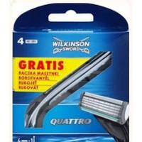 Кассеты + станок Wilkinson Sword Quattro 4 шт Германия