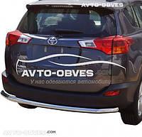 Защита заднего бампера Toyota Rav4 2013-2016, труба одинарная