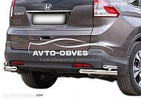 Защитные углы двойные для Honda CR-V 2013-2016 от ИМ Автообвес (п.к. АК3)