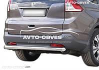 Защита заднего бампера для Honda CR-V 2013-2016 прямой ус (п.к. AK)