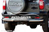Защитные углы одинарные для Chevrolet Niva Bertone от ИМ Автообвес