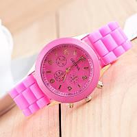 Женские наручные силиконовые часы Geneva light pink