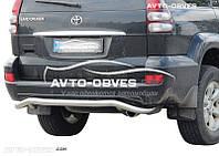 Защита заднего бампера для Toyota Prado 120, изогнутая труба модельная