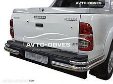 Защита заднего бампера Toyota Hilux, углы двойные