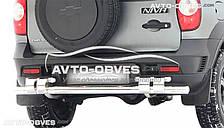 Защита заднего бампера для Chevrolet Niva Bertone, нержавейка