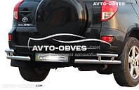 Защита задняя для Toyota Rav4, углы двойные (п.к. АК3)