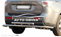 Защита заднего бампера на Mitsubishi Outlander 2013-2015