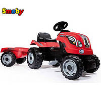 Детский педальный трактор с прицепом Smoby Farmer XL 710108