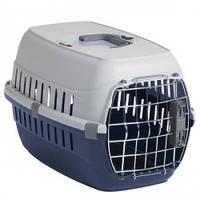 Переноска для собак и котов Moderna РОУД-РАННЕР 1  с металлической дверью IATA, 51Х31Х34 см, кобальт синий .