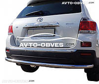 Защита заднего бампера Toyota Highlander, труба прямая