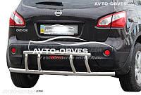 Защита заднего бампера для Nissan Qashqai 2007-2014