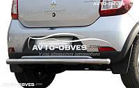 Защита задняя Renault Sandero Stepway, труба прямая  (п.к. AK)