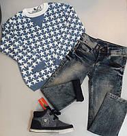 """Комплект """"Звезды"""" джинсы, джемпер и стильные кеды Benetton"""