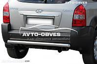 Защита заднего бампера для Hyundai Tucson, труба прямая (п.к. AK)