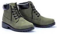 Качественные женские ботинки от производителя зеленого цвета