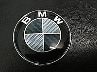 BMW X5 E-53 1999-2006 гг. Эмблема Карбон, Турция d82.5 мм, самоклейка+шайбы