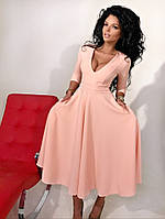 Женское платье миди №90-1056
