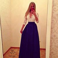 Женское Превосходное длинное Платье макси в пол  стильное и модное    Юлия