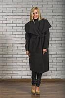 Пальто женское длинное кашемировое черное, фото 1