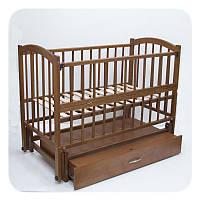 """Детская кроватка Babymax """"Cонька"""" с ящиком. Цвет: Орех"""